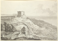 Rufus Castle and The Old Church, Isle of Portland f.177